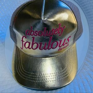 Accessories - Absolutely Fabulous Movie Gold Embroidrd Promo Cap